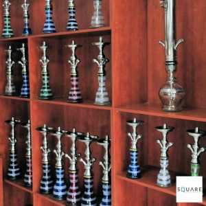 Tobacco Store fron with hubbly 2021 Covid