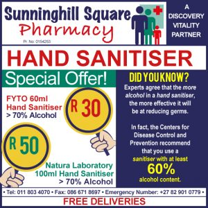 Sunninghill Square Pharmacy advert