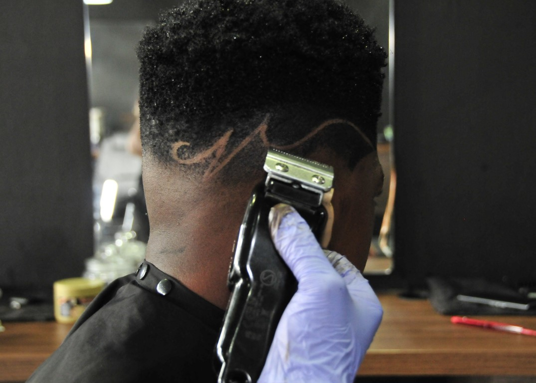 Sunninghill square | Johannesburg, Sandton, Mall, Shopping Centre, Convenient, Near Me, South African, Local, Affordable, Quality, The Classic Barber Shop, black hair clippers , white gloves